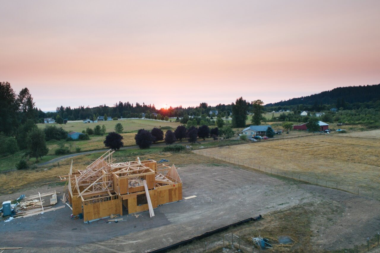 new home constructions on outer suburbs